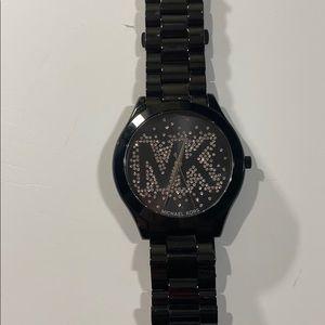 Michael Kors black metal watch